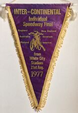 1977 Inter-Continental Speedway Final Pennant Peter Collins Belle Vue Ole Olsen