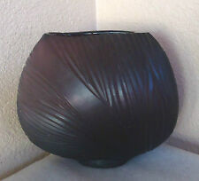 "Cut Carved Purple Amethyst Glass Art Deco Vase 6.5""large"