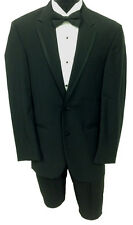 Black Calvin Klein Two Button Tuxedo Package Wedding Prom Formal Mason 46R