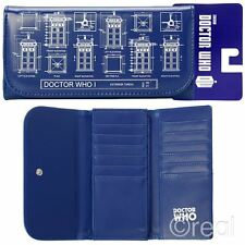 New Doctor Who TARDIS Schematic Blueprint Hand Purse / Wallet Flap Official