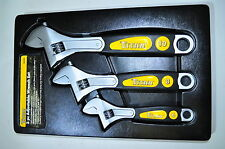 "Adjustable Wrench 6"",8"",10"" 3 pcs set with IN/MM Scale on each Side Titan"