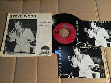"Steve Wood-Maybe You Win - 7"" SINGLE + 2 AUTOGRAFO schede con autografi offerti sono (12)"