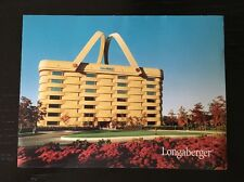 "Longaberger Dresden Ohio ""Home Office"" Oversized Postcard / Fact Card - 1999"