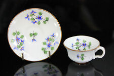 RARE ANTIQUE MINTON MINIATURE CUP & SAUCER 43385 PAINTED GILDED FLOWERS MINTONS