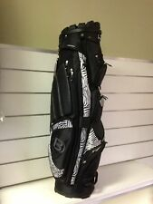 Golf Bag ladies Bennington QO-9 Lite golf cart bag in black/zebra