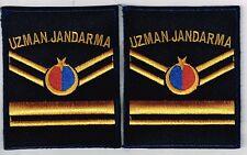 Polizei Türkei Jandarma  -- 2   Ärmelabzeichen  -  blau  -  Kradfahrer  -