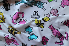 MOSCHINO GENUINE MADE IN ITALY PURE COTTON SATIN STRETCH FABRIC CM 215 X 140