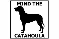 Mind the Catahoula - Gate/Door Ceramic Tile Sign