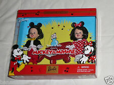 NEW Mattel Barbie Tommy Kelly Doll Disney Mickey Minnie 2002 55502