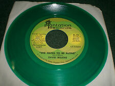 She Hates To Be Alone David Wilkins~RARE Green Vinyl PROMO Country 45 RPM