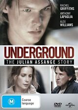 Underground: The Julian Assange Story (DVD, 2013) movie, wikileaks, griffiths