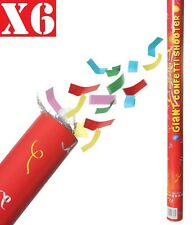 6x 80cm Giant CONFETTI Cannons Poppers Shooter Wedding Birthday New Years Party