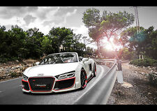 2014 AUDI R8 REGULA TUNING NEW A3 CANVAS GICLEE ART PRINT POSTER