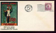 1932 FDC - Scott# 718  - LA, CA Cancel - Olympic Cover Co Cachet  UA