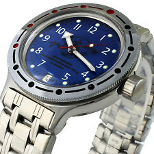 MEN'S WRIST WATCH DIVING RUSSIA VOSTOK  AMPHIBIAN MECHANICAL SCUBA DUDE 420379