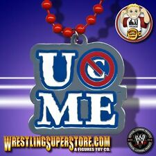 "WWE John Cena ""You Can't See Me!"" Blue Lettered Pendant W/ Red Beads"