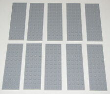 LEGO LOT OF 10 NEW LIGHT BLUISH GREY 4 X 12 DOT PLATES BUILDING BLOCKS PIECES