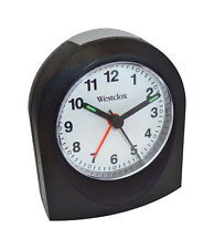 Westclox Alarm Clock Travel Black Quartz Movement 1 Aa Battery
