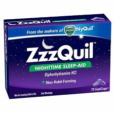 ZzzQuil Nighttime Sleep-Aid - 72 LiquiCaps    From the Makers of Vicks NyQuil