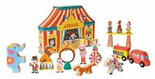 Janod Juratoys Wooden Circus Big Top Tent Story Box Preschool Kids Play Set