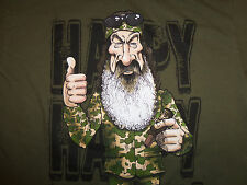 Duck Dynasty TV Show Phil 'Happy, Happy, Happy' Green Graphic Print T-Shirt - S