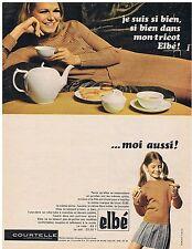 PUBLICITE ADVERTISING 044 1966 ELBE je suis si bien dans mon tricot