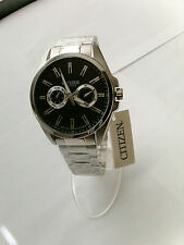 BRAND NEW CITIZEN MEN'S WATCH AG8320-55E IN ALL STAINLESS STEEL AND BLACK DIAL
