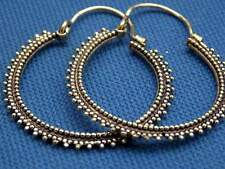 Large Hoop Brass Circle Dots Earrings Antique Boho Indian Styla
