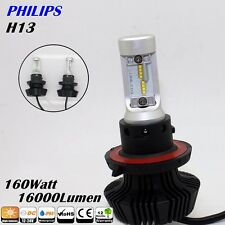 Pair Philips 160W 16000LM H13 6500K White High Power LED Work Headlight Bulb