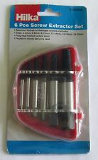 Hilka 6pc Screw Bolt Stud Extractor Broken Damaged Remover Out Tool