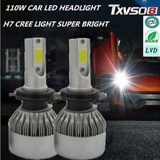 H7 110W 20000LM LED Headlight Conversion Kit Car Beam Bulbs Driving Lamps White