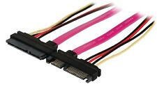 Serial ata sata 22 broches câble d'extension sata 7 broches + 15 broches femelle 45cm