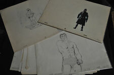 Marvel Super Heroes Animation Cells Cartoon Sketch Lot - (1960s) ITB WH
