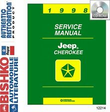 1998 Jeep Cherokee Shop Service Repair Manual DVD Engine Drivetrain Electrical