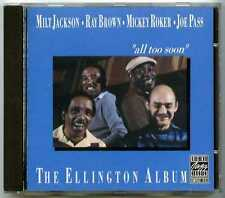CD Milt JACKSON, Ray BROWN, Roker, Pass : All too soon, The Ellington album
