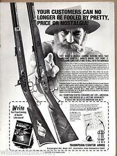 1979 THOMPSON CENTER ARMS TCA Muzzle Loader Loading Rifle AD w/catalog offer