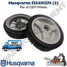 Pair of Genuine Husqvarna Wheels 532401274 / 5324012-74