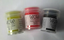 Embossing Powders by WOW in 3 Colours