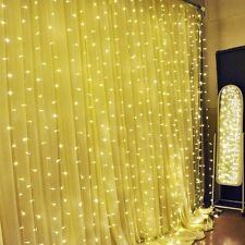 New 3Mx3M 300LED Icicle Curtain Fairy String Lights Wedding Party Xmas Deco