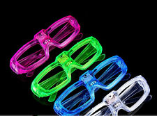12 Pcs LED Shutter Glasses Light Up Shades Flashing Rave Wedding Party Supplies
