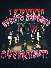 Vintage I Survived Desoto Caverns Caves Overnight Childersburg Alabama T Shirt M