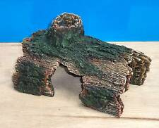 Aquarium Ornament Hollow Half Tree Log Cave Fish Tank Decoration New