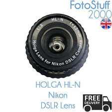 HOLGA HL-N Nikon DSLR Holga Lens F8.0 60mm | Black | UK STOCK