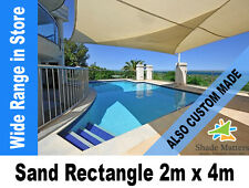New Extra Heavy Duty Shade Sail-Rectangle  2mx4m Sand Color Also Custom Made
