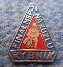 FINAL WORLD CHAMPIONSHIPS PAIRS SPEEDWAY POLAND RYBNIK 1971 PIN BADGE