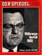 SPIEGEL 21/1969 Franz-Josef Strauß und seine Währungspolitik