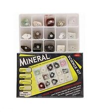 MINERAL SCIENCE KIT 15 ROCKS & GEMS EDUCATIONAL GEOLOGY GIFT SET NEW KIDS