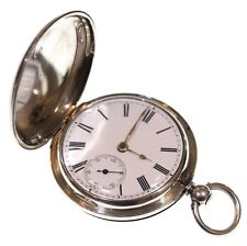 Antique Full Hunter Pocket Watch 1864 Silver Fusee Lever. Serviced