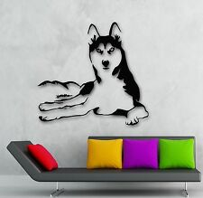 Wall Stickers Vinyl Decal Husky Dog Animals Pets Veterinary (ig1341)