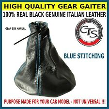 VAUXHALL OPEL ZAFIRA A MK1 99-05 BLUE STITCH LEATHER GEAR STICK GAITER